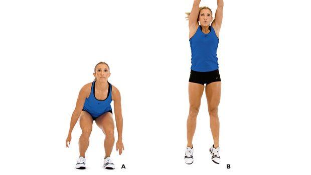 Training für Po - Single - Bein hocken mit Turm