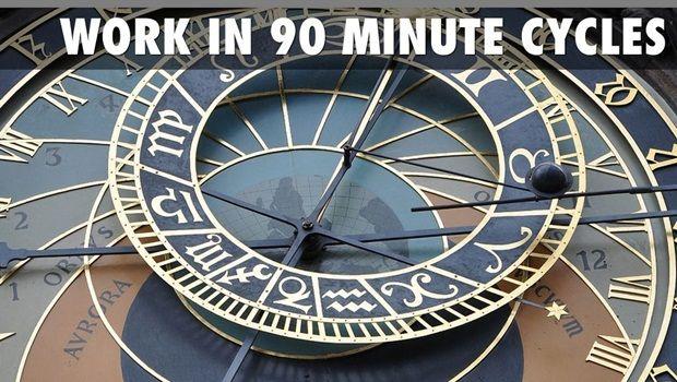 Möglichkeiten, die Arbeitsleistung zu verbessern - mit einer Zykluszeit von 90 Minuten arbeiten