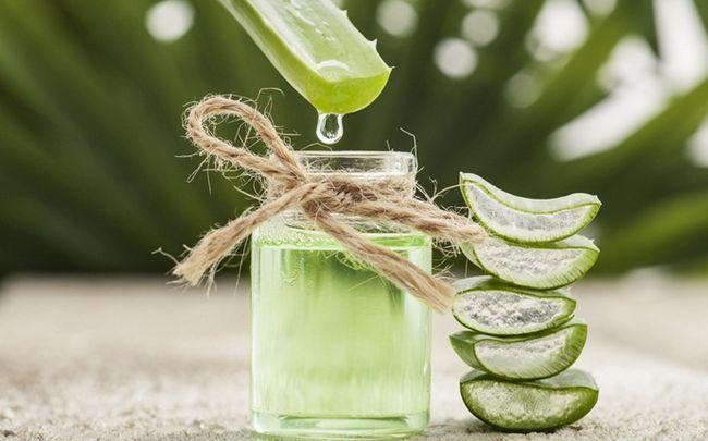 Sonne geschädigter Haut Behandlung - Aloe Vera Gel