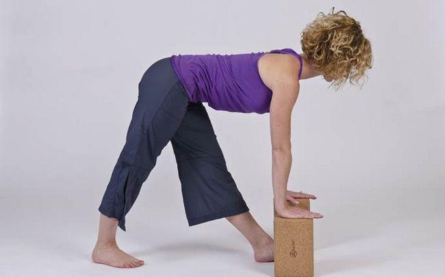 Yoga-Posen für Ischias - modifizierte Pyramide