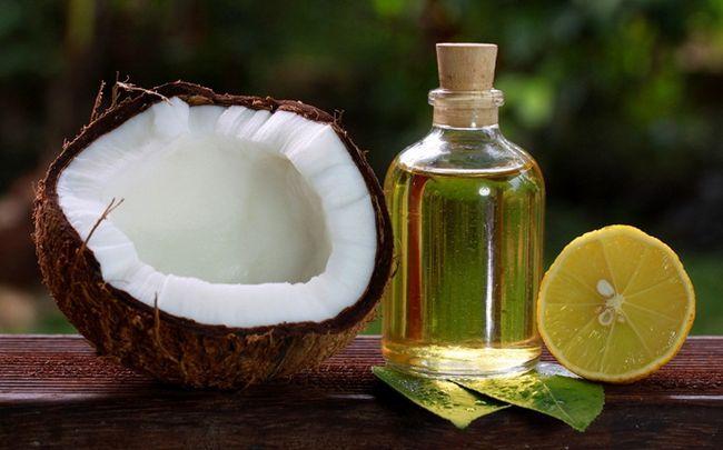 Zitrone für Schuppen - Zitrone und Kokosöl