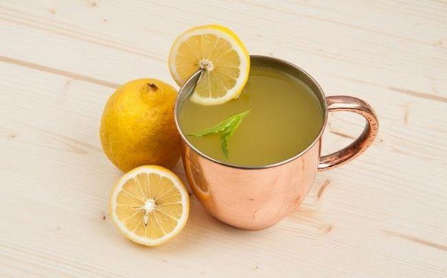 Sonne geschädigter Haut Behandlung - Zitronensaft