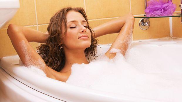 Nehmen Sie ein warmes Bad