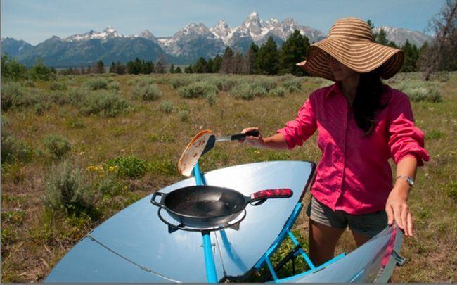 nutzt der Solarenergie - Solarenergie zum Kochen