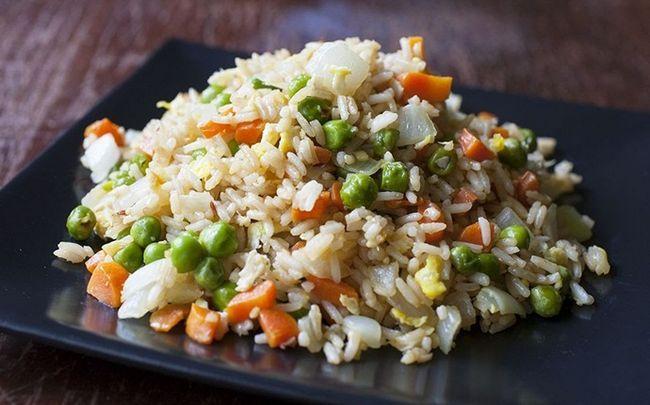 Ei gebratener Reis Rezepte - Ei gebratener Reis und Garnelen