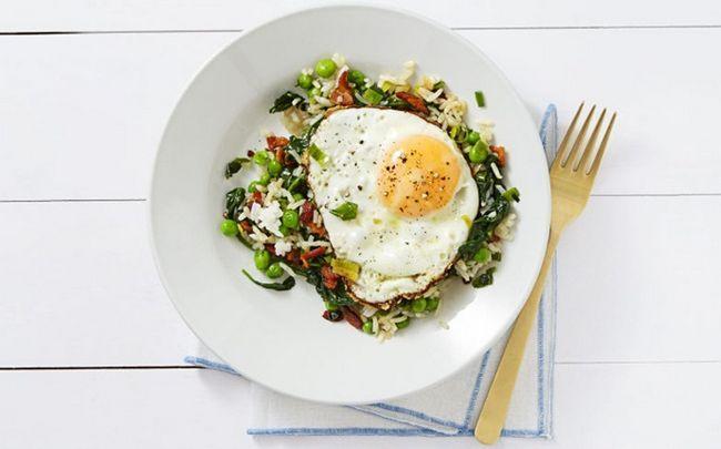 Ei gebratener Reis Rezepte - Ei gebratener Reis und Speck