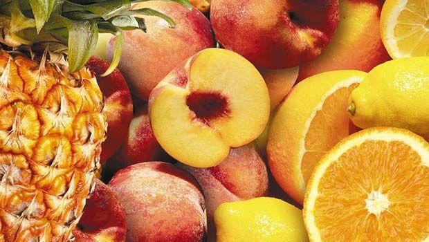 Gelb und Orange Lebensmittel
