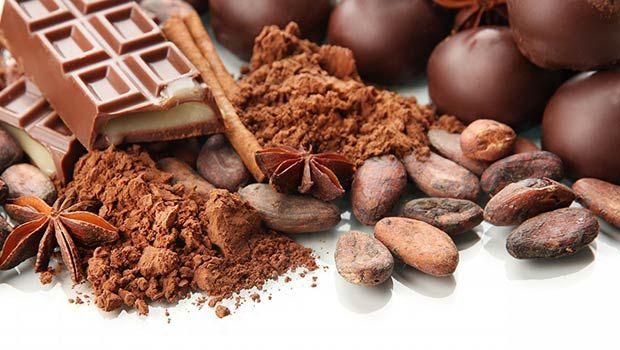 Kakaobohnen (rohe Schokolade)