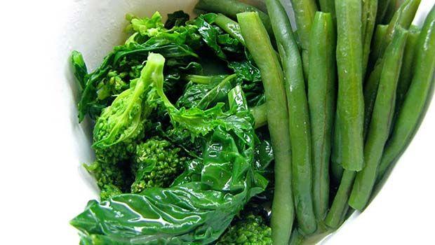 Bohnen und Gemüse