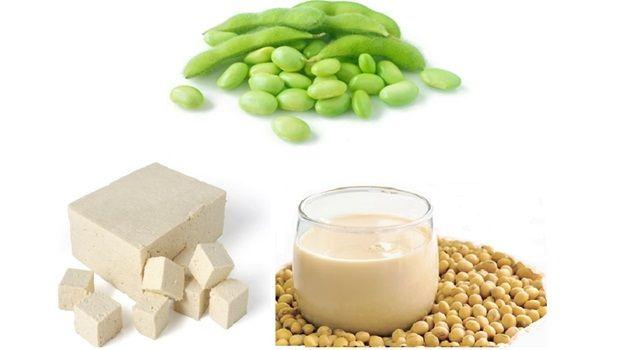 Tofu, Edamame und Soyamilch