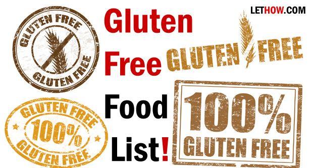 Glutenfreie lebensmittel-liste