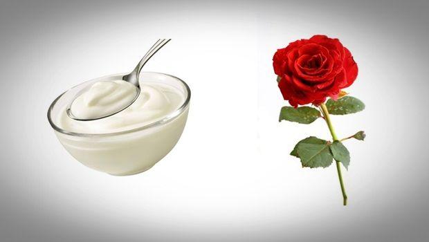 Gesichtsmaske Rose - Joghurt und Rosengesichtsmaske für Hautaufheller