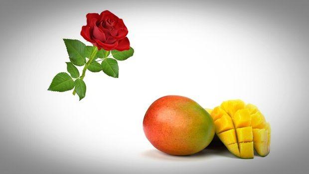 Gesichtsmaske Rose - Mango und Rosengesichtsmaske für strahlende Haut