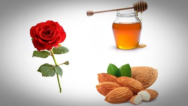 Rose Gesichtsmaske - Honig, Mandeln und Gesichtsmaske Rose