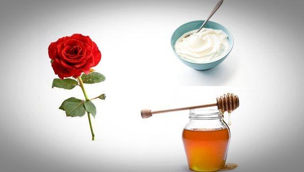 Rose Gesichtsmaske - Honig, Rosen Joghurt Gesichtsmaske
