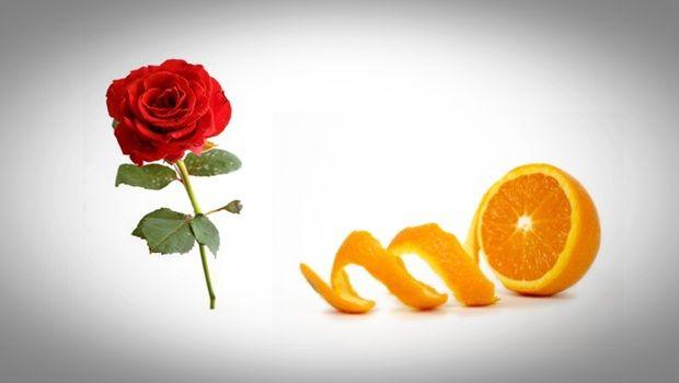 Gesichtsmaske Rose - Orangenschalen-Pulver und Rosengesichtsmaske
