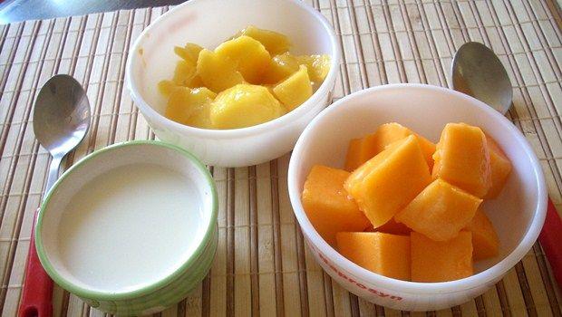 Papaya und Joghurt Rezept für Spliss