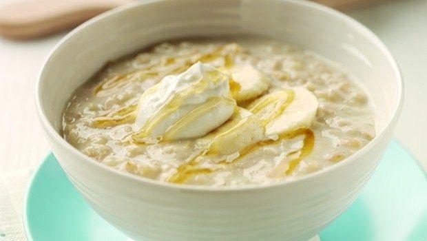 Banane, Joghurt, Olivenöl, Honig und Eiweiß Rezept