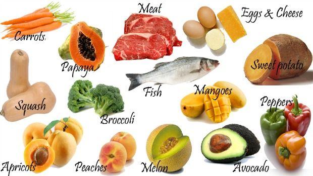Lebensmittel, die reich an Vitamin A-Download