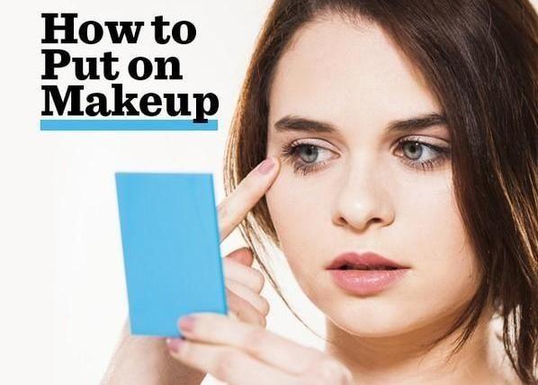 So platzieren Sie auf Make-up