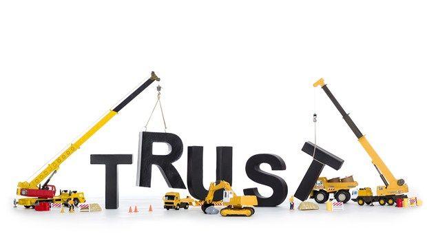Wiederherstellung Vertrauen miteinander
