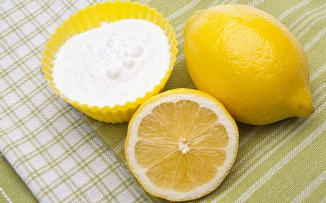 Zitrone für Schuppen - Zitrone und Backpulver