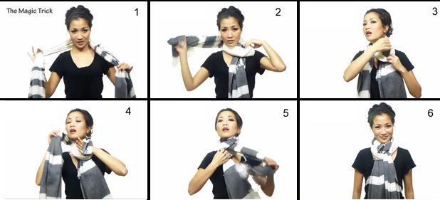 Wie man einen Schal (Zaubertrick) zu tragen