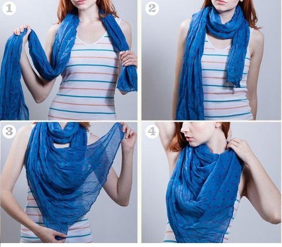 wie man einen Schal (Wasserfall-Stil) zu tragen