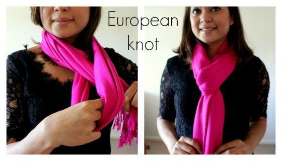 Wie man einen Schal (europeon Stil) zu tragen
