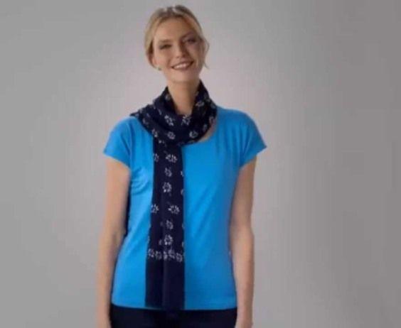 Wie man einen Schal (quick Münzwurf) zu tragen