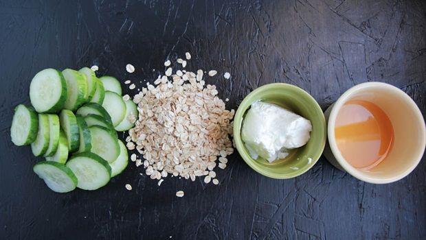 Haferflocken, Gurke, Joghurt