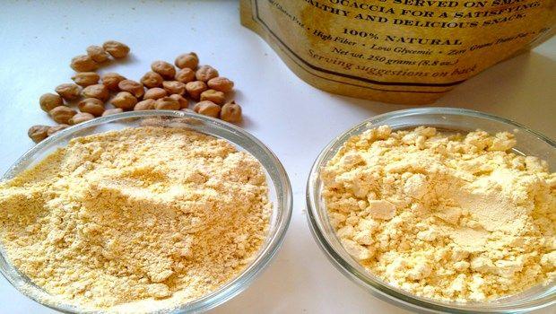 wie die Haut-Kichererbse Pulver oder Gramm Mehl aufzuhellen