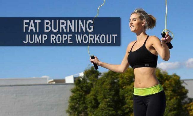 Jumping seil- einfaches krafttraining zu hause cardio gewicht zu verlieren