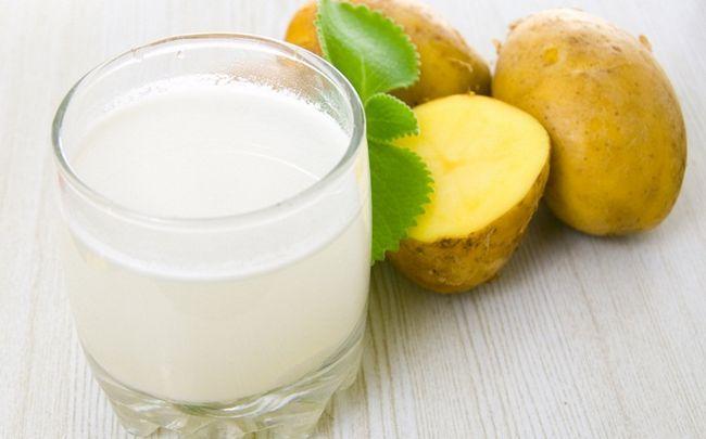Zitrone für Dehnungsstreifen - Zitronensaft und Kartoffelsaft