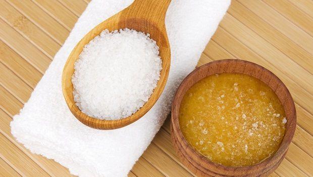Fußpeeling Rezept - Salz Fußpeeling Rezept
