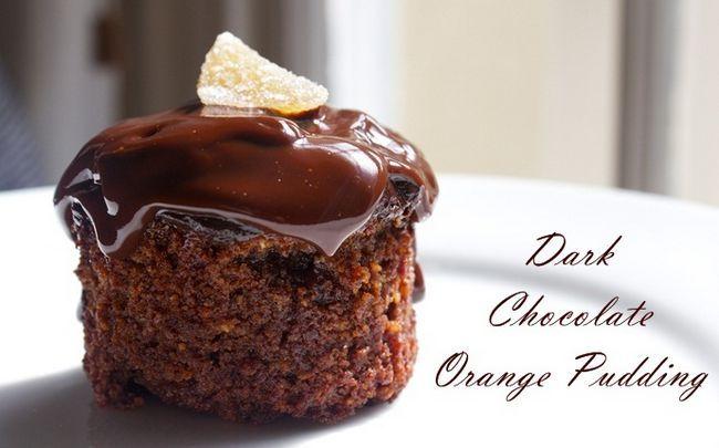 dunkle Schokolade Rezepte - dunkle Schokolade Orangenpudding