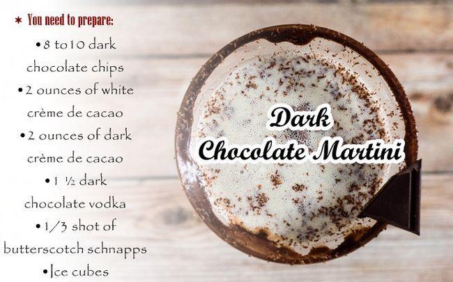 dunkle Schokolade Rezepte - dunkle Schokolade Martini